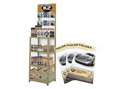 ZESTAW ZŁOTY - ekspozytor plastikowy + 100 map Polski